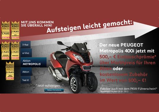 Peugeot Metropolis Aktion